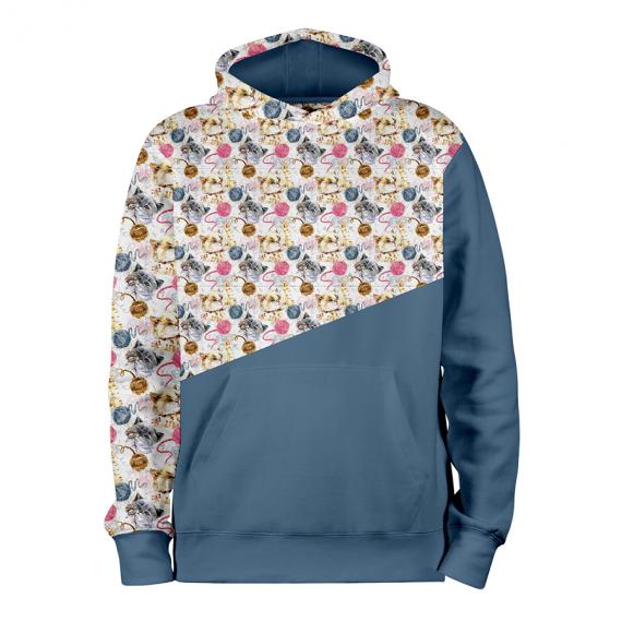 Petits Chats_BLEU_hoodies_Devant