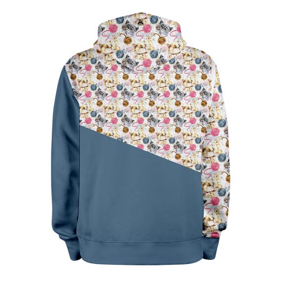 Petits Chats_BLEU_hoodies_Dos
